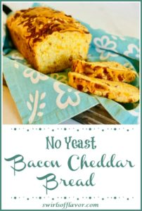 Bacon Cheddar Cheese Bread in basket