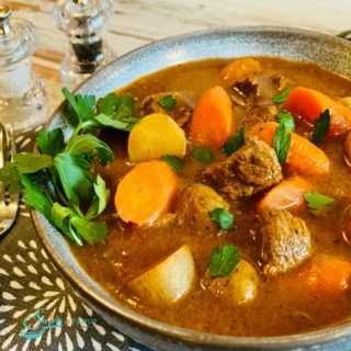 Beef Stew with Guinness in bowl