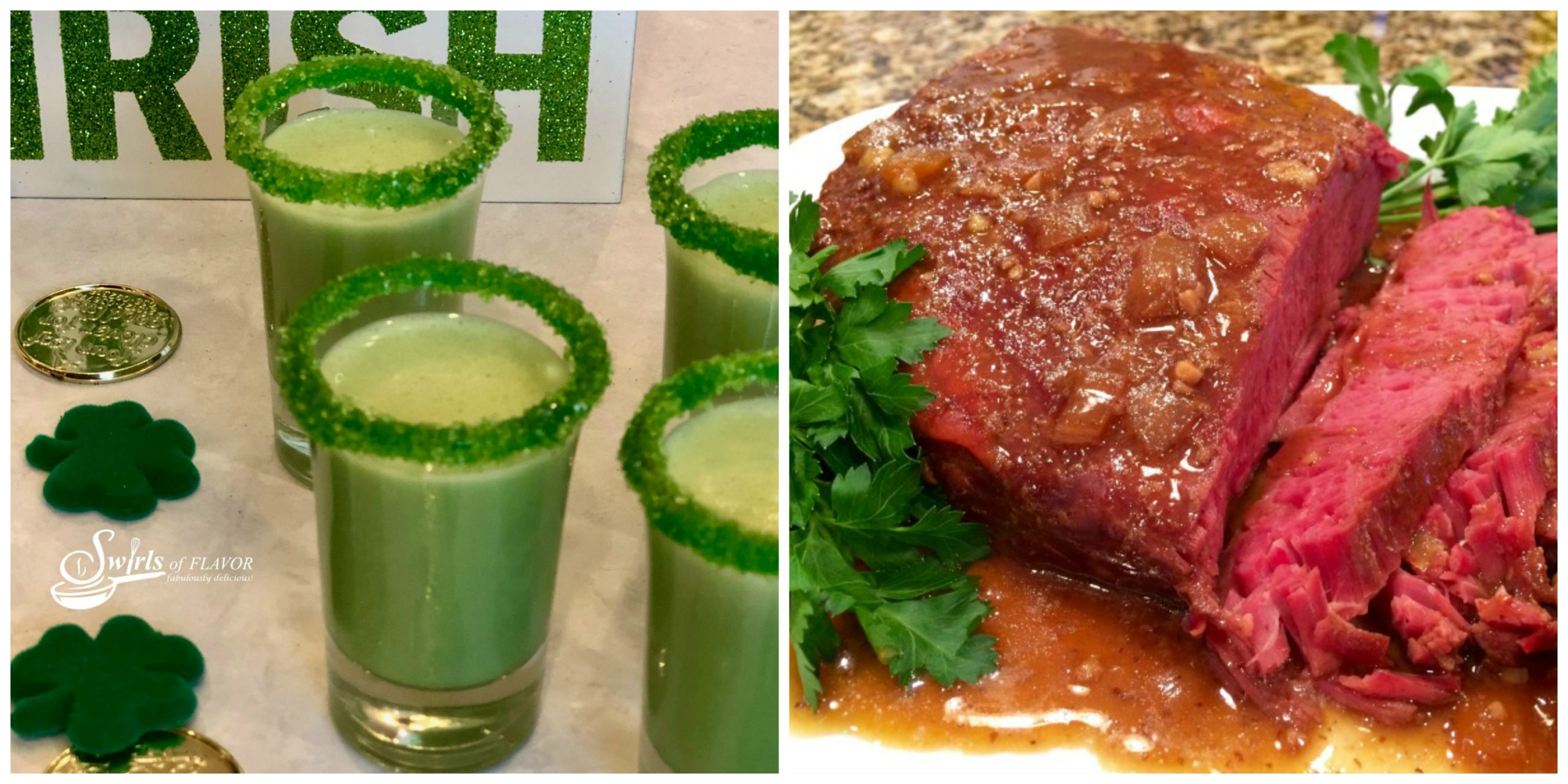 Shamrock Shooters and Slow Cooker Corned Beef