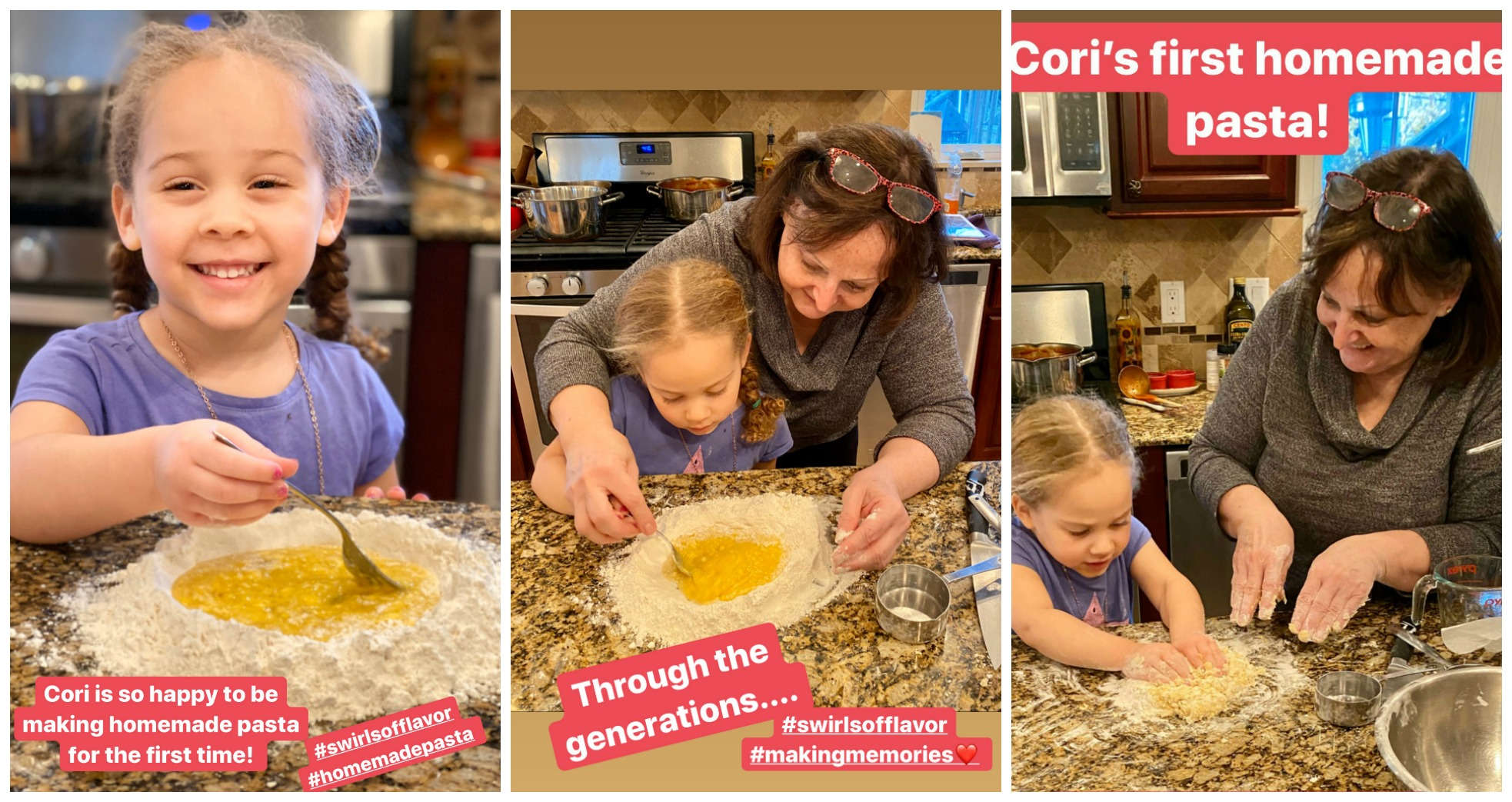Making homemade pasta with Cori