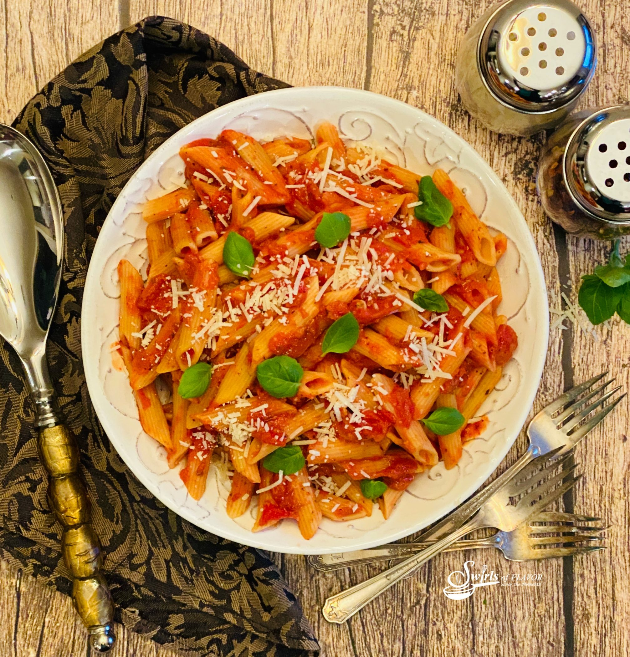Instant Pot Penne Pasta in bowl