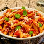 Penne pasta in bowl