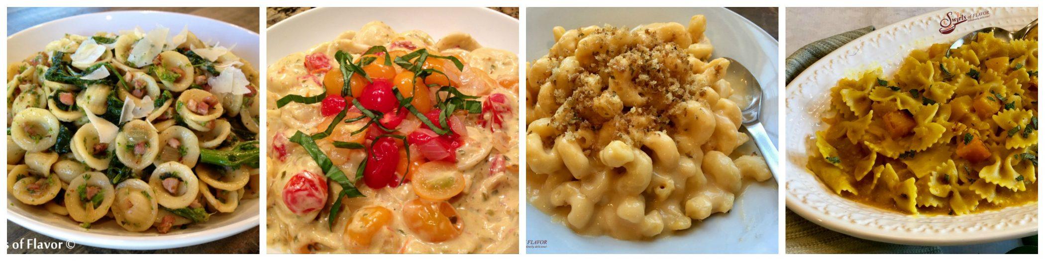 Four pasta recipes