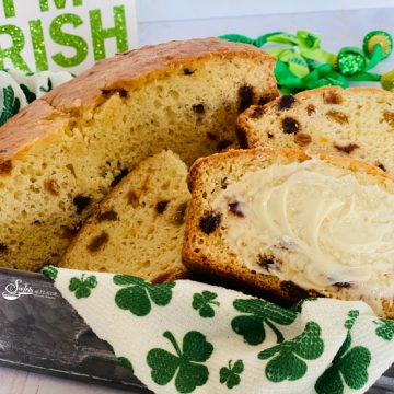 best Irish soda bread recipe with slices and butter