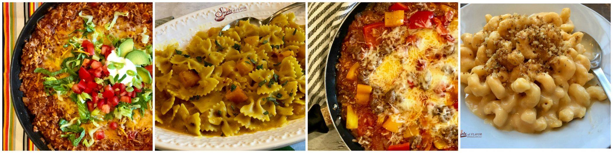 Four one pot recipes