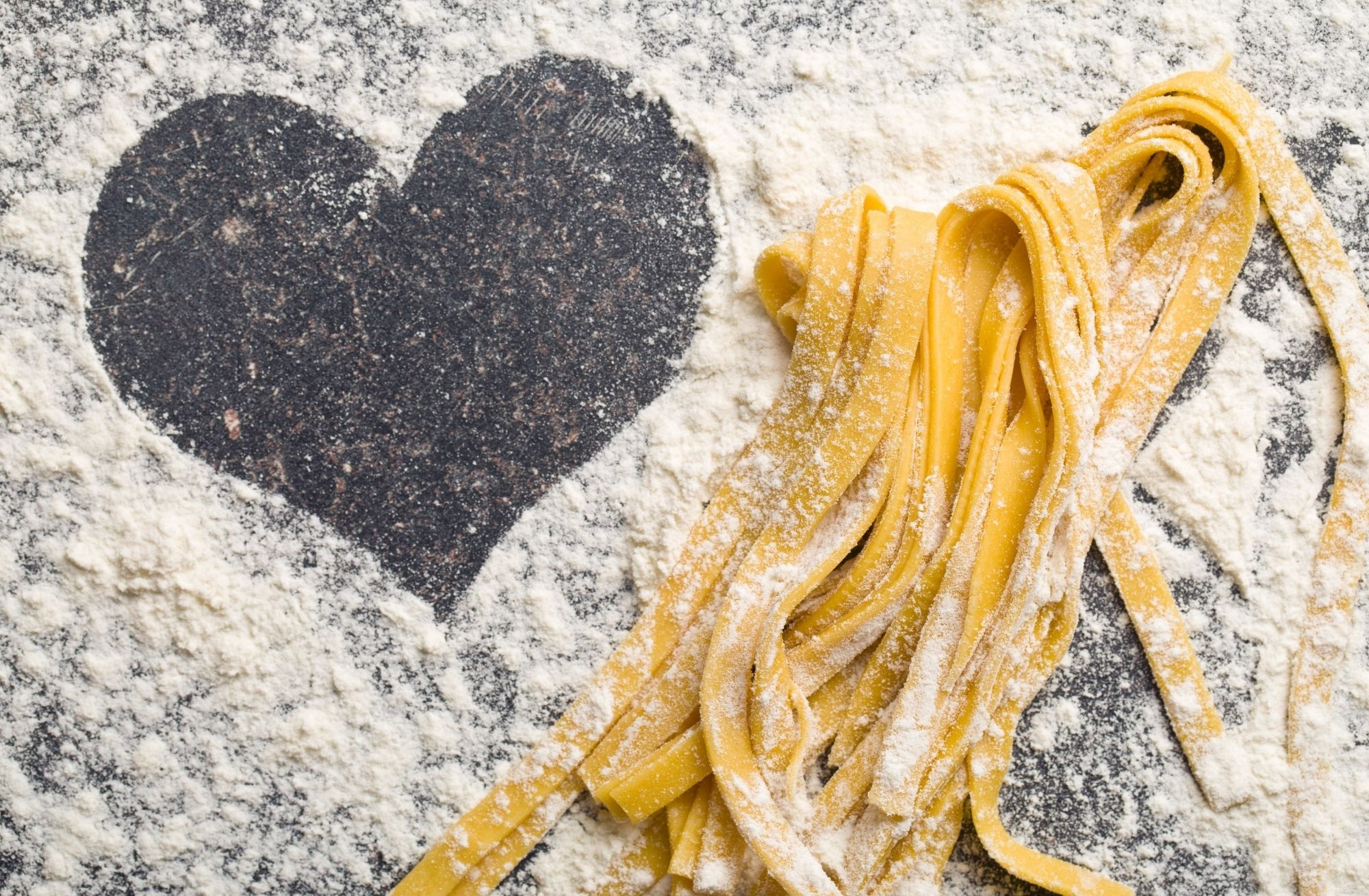 homemade pasta and a heart