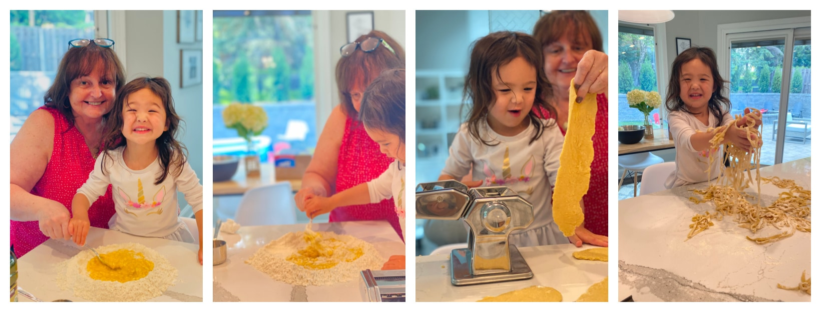 GG and Zoey making homemade pasta together