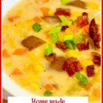 Creamy Corn Chowder With bacon