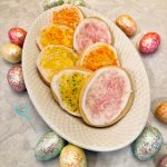 Easter Egg Cookies on platter