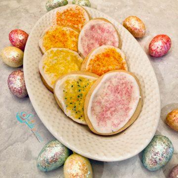 Easter Egg Cookies on platter