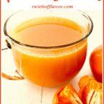 orange vitamin drink wtith orange segments and text overlay