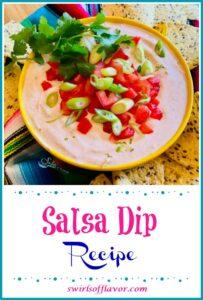Salsa Dip in bowl