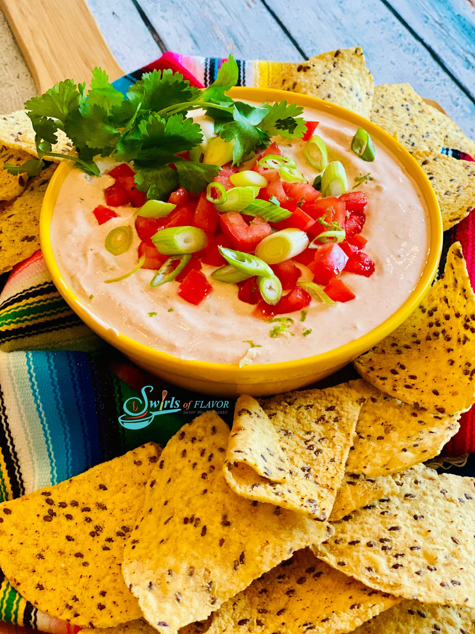 Salsa Dip with chips