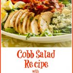 Cobb Salad in a white bowl