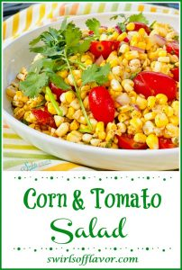 Summer corn salad with tomatoes and cilantro
