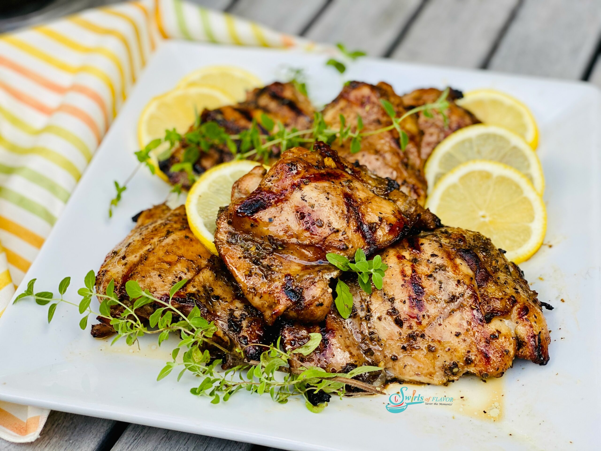 grilled chicken recipe with oregano and lemons