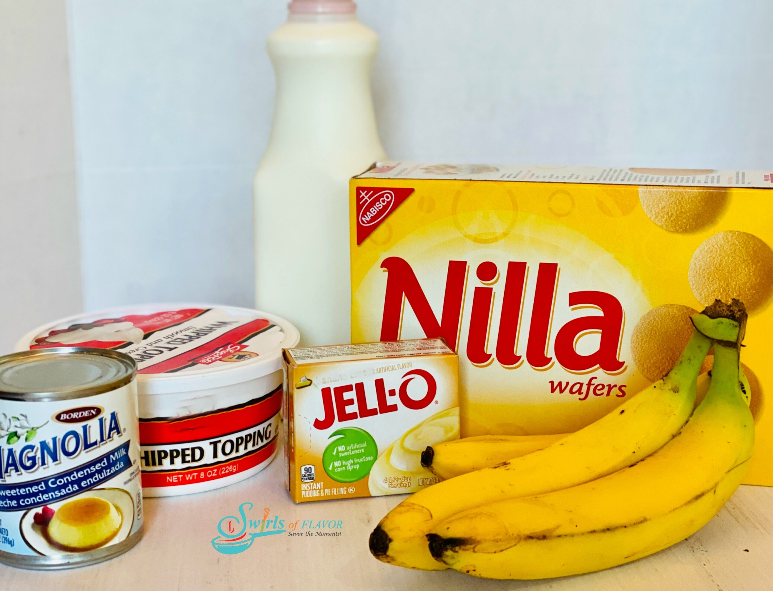 ingredients you will need to make a banana pudding recipe