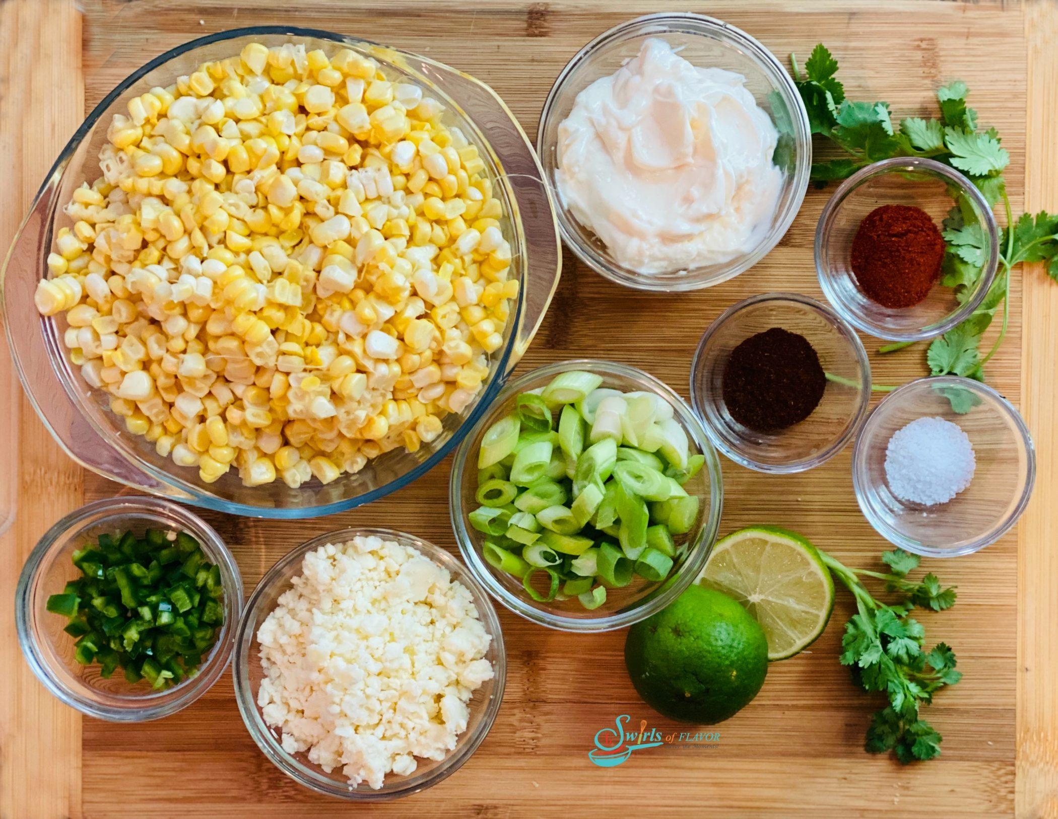 ingredients in corn salad recipe