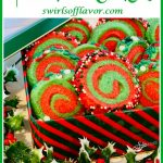holiday cookies in cookie tin with text overlay
