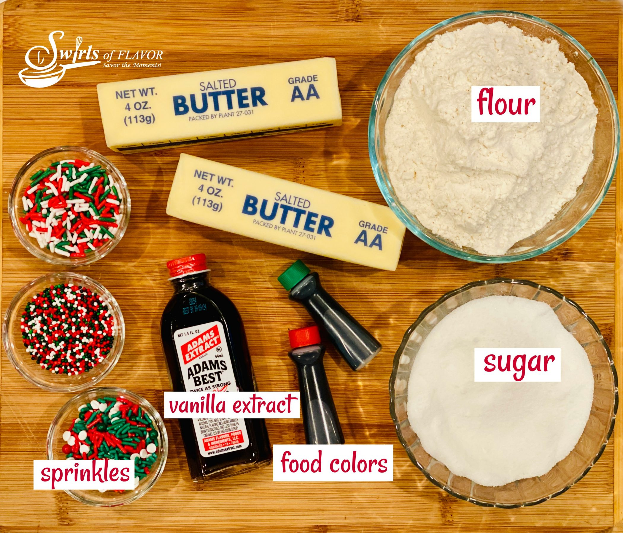 ingredients you need to make pinwheel cookies