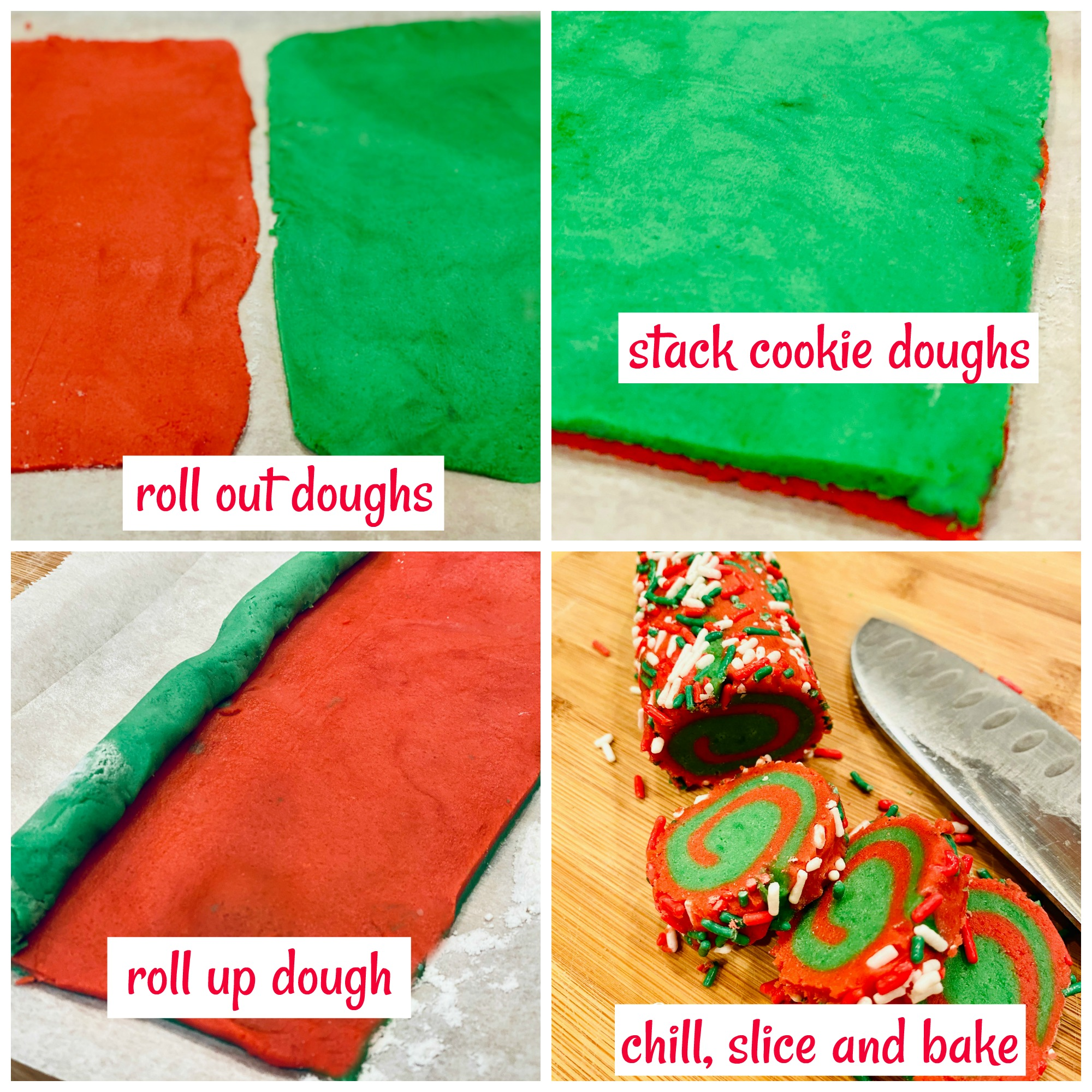 steps on how to make pinwheel cookies