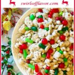 Reindeer Chow in bowl with text overlay