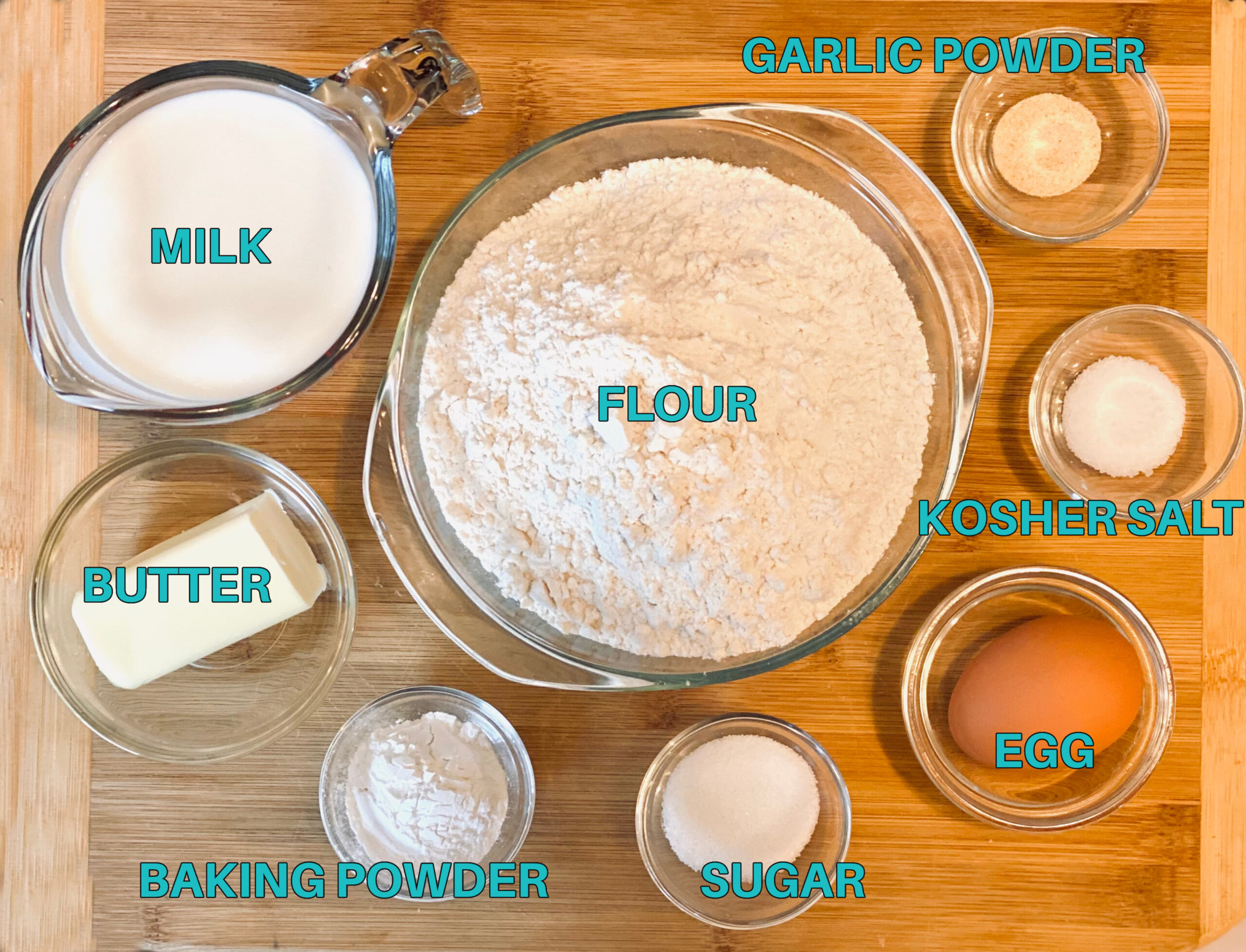 ingredients for making homemade bread without yeast