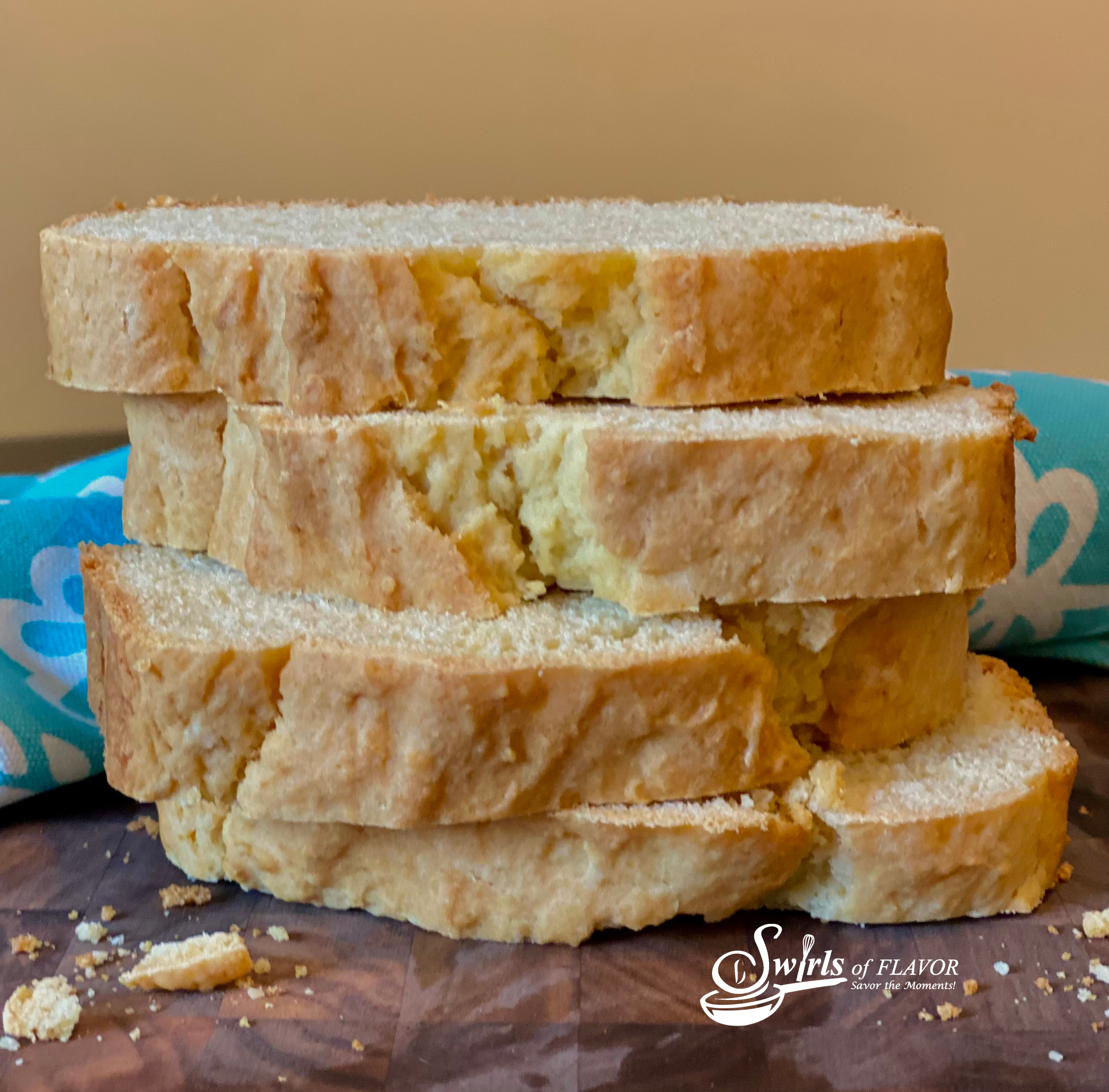 stack of homemade bread slices
