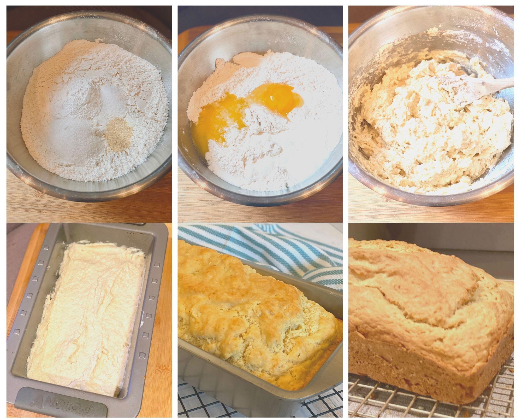 step by step photos for making homemade bread