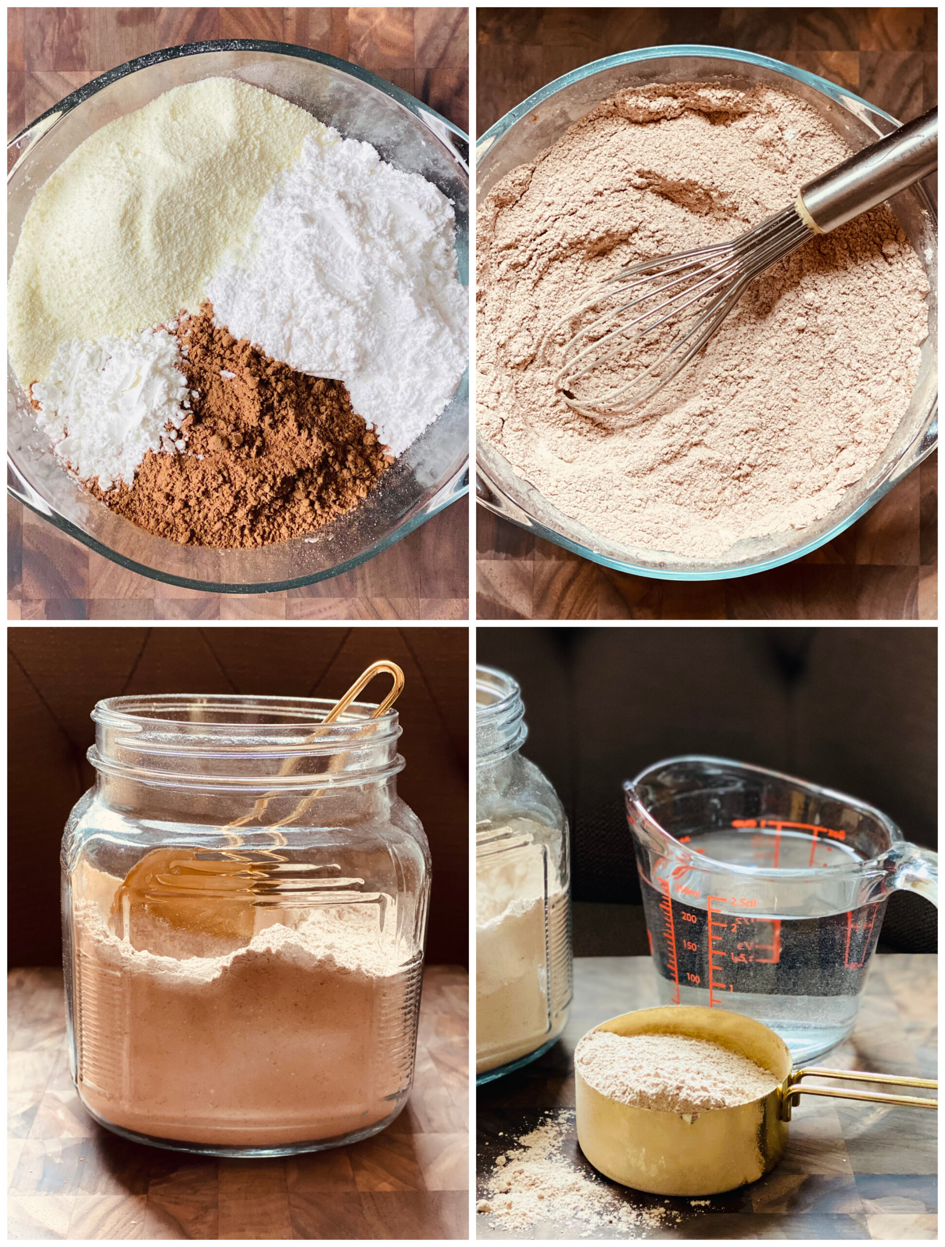 step by step photos on to make hot chocolate mix