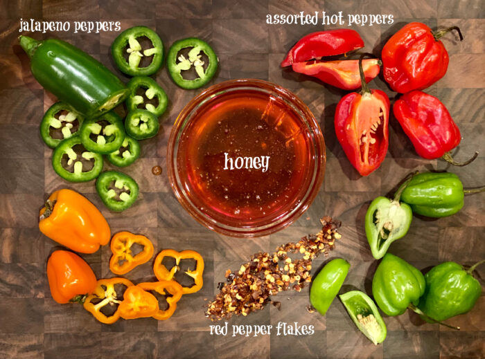 ingredients for making homemade hot honey