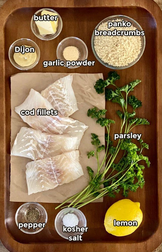 ingredients to make baked cod recipe
