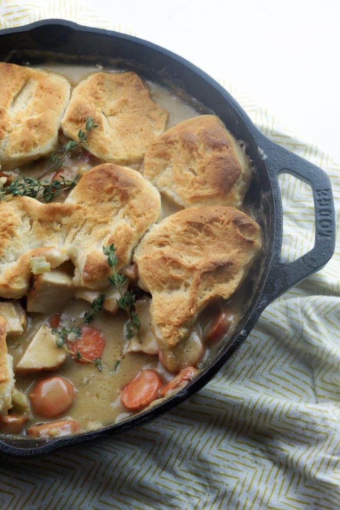chicken pot pie with scoop out