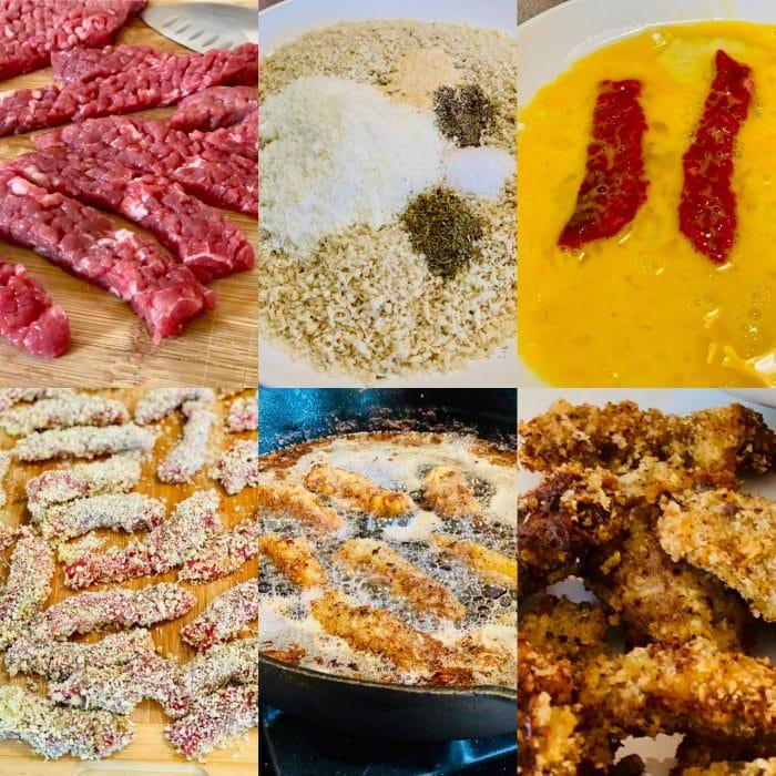 steps for making finger steaks