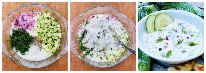 step by step how to make tzatziki sauce
