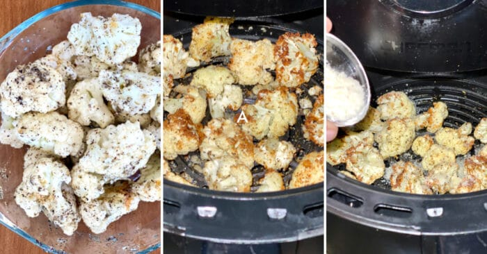 how to cook air fryer cauliflower step by step