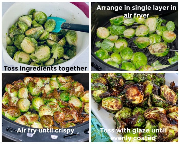 how to steps for air frying brussel sprouts