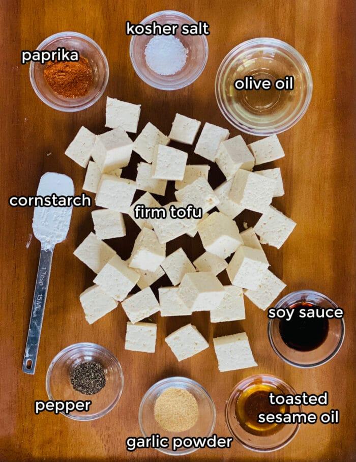 ingredients for air fryer tofu